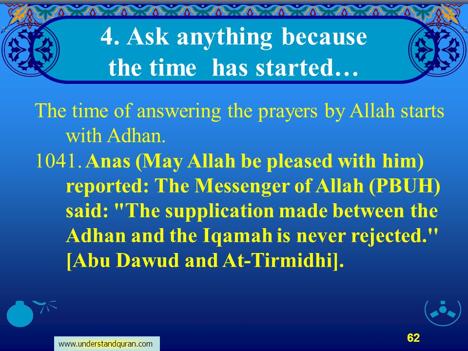 4. Ask anything because the time has started…