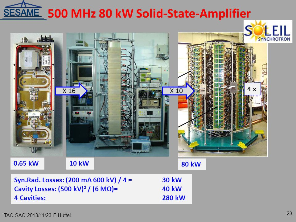 500 MHz 80 kW Solid-State-Amplifier