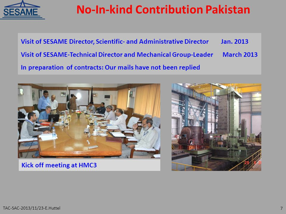 No-In-kind Contribution Pakistan