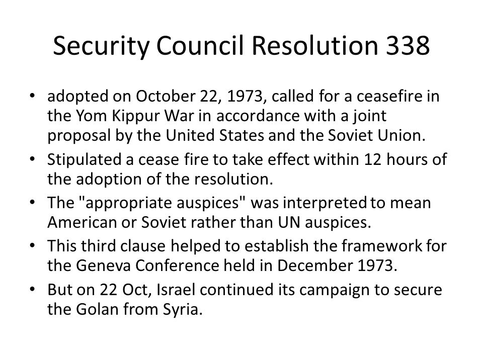 Security Council Resolution 338