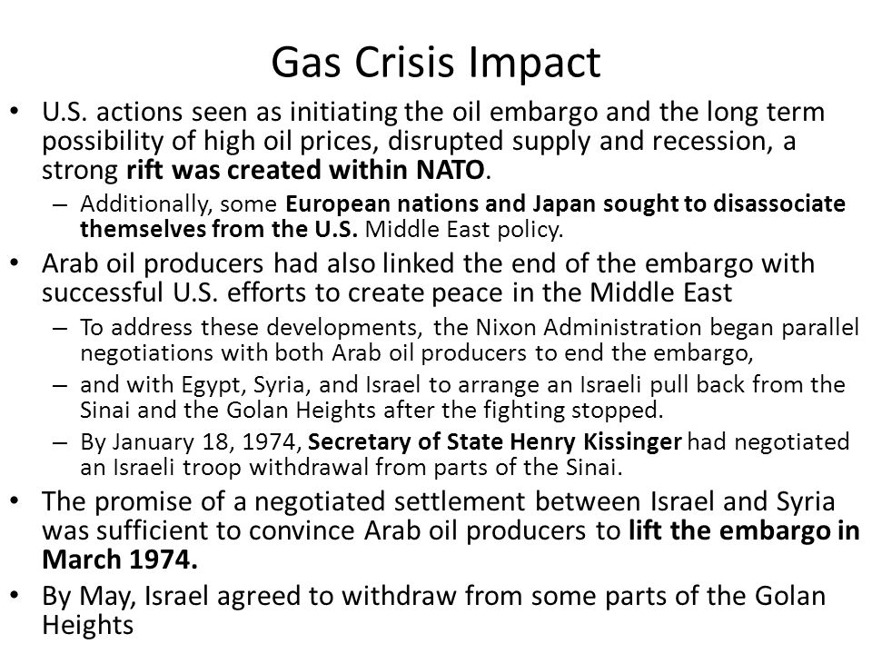 Gas Crisis Impact