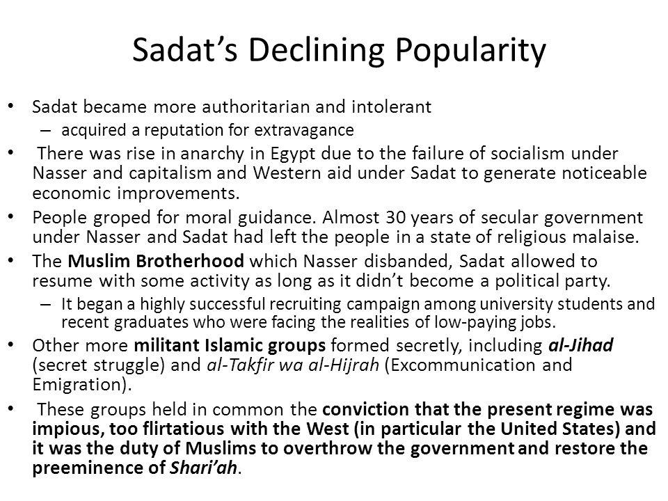 Sadat's Declining Popularity