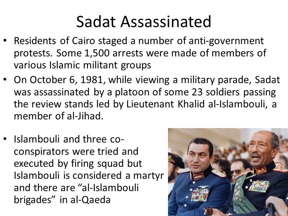 Sadat Assassinated