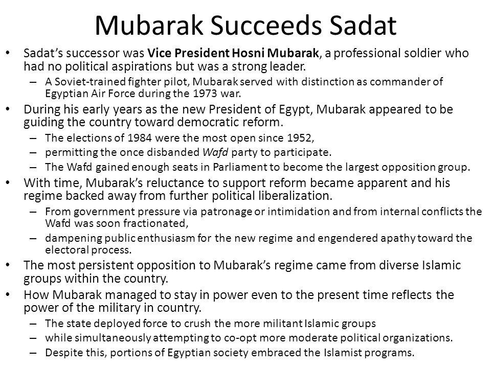 Mubarak Succeeds Sadat