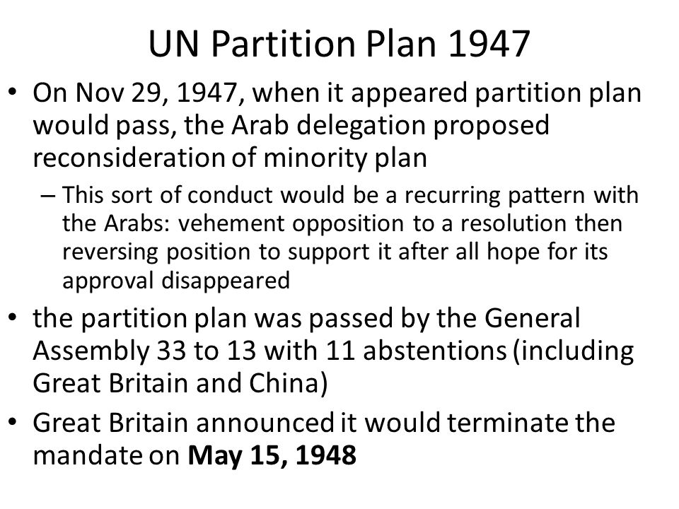 Image result for the u.n. general assembly passed a resolution calling for the british mandate of palestine to be partitioned