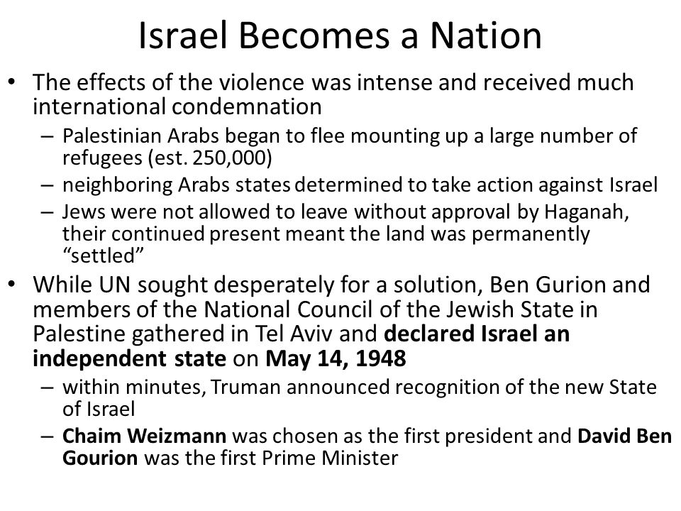 Israel Becomes a Nation