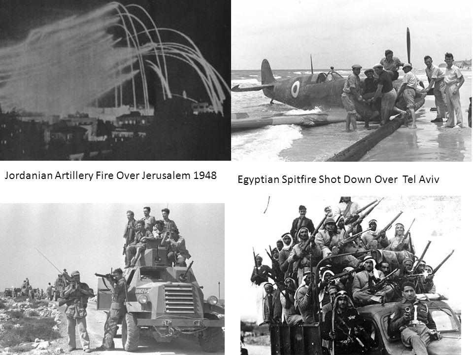 Jordanian Artillery Fire Over Jerusalem 1948