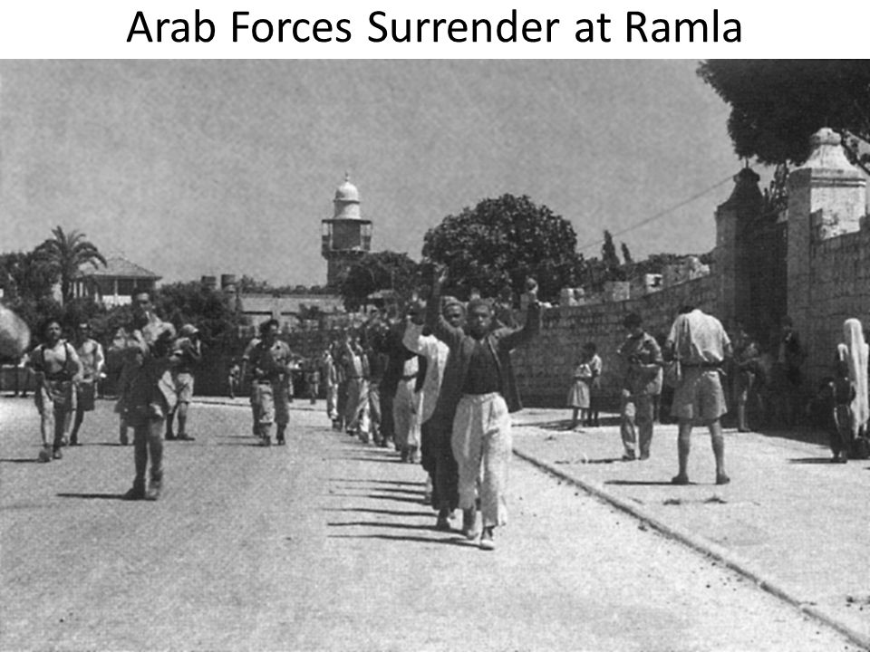 Arab Forces Surrender at Ramla