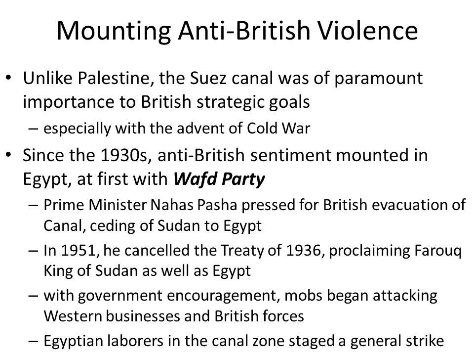 Mounting Anti-British Violence