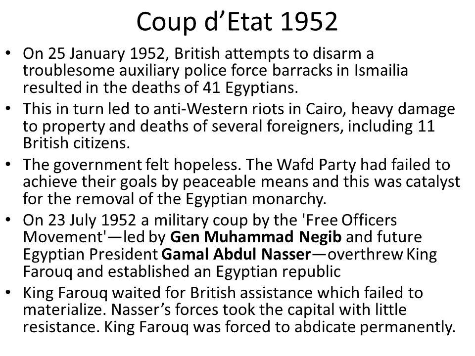 Coup d'Etat 1952