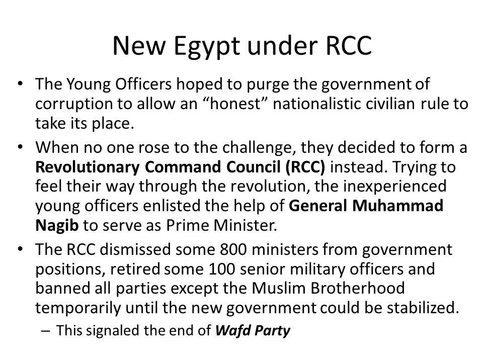 New Egypt under RCC