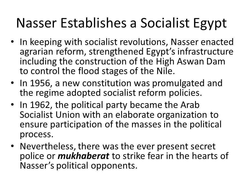 Nasser Establishes a Socialist Egypt