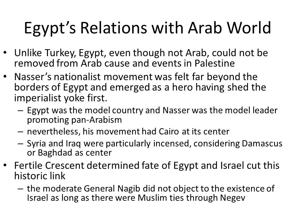 Egypt's Relations with Arab World