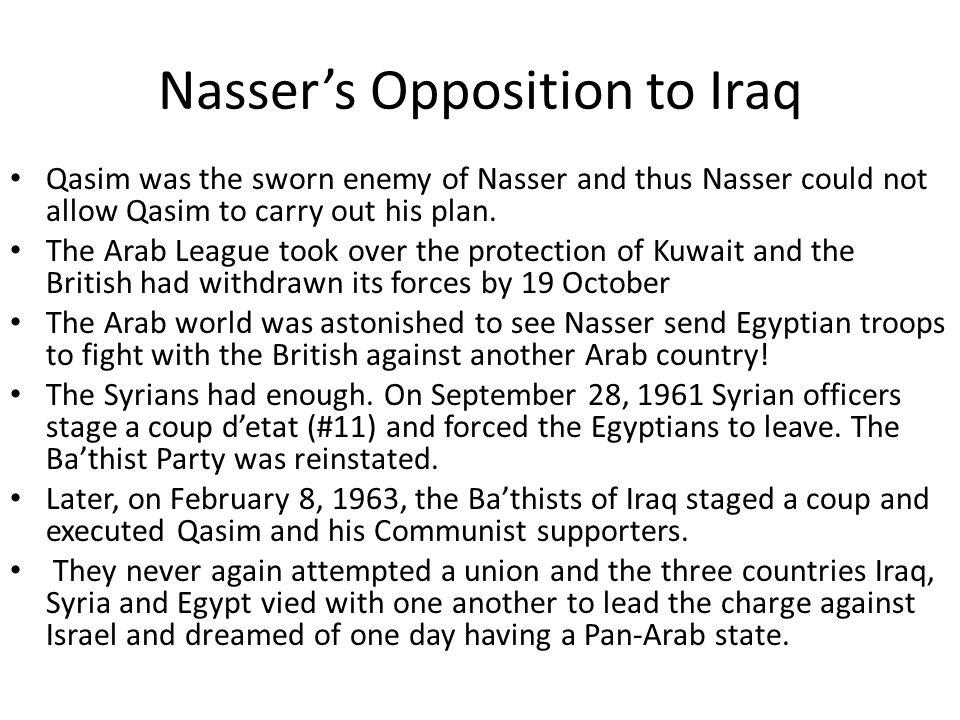 Nasser's Opposition to Iraq