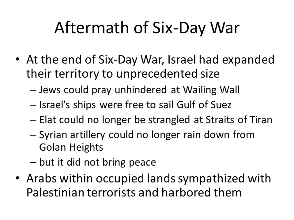 Aftermath of Six-Day War