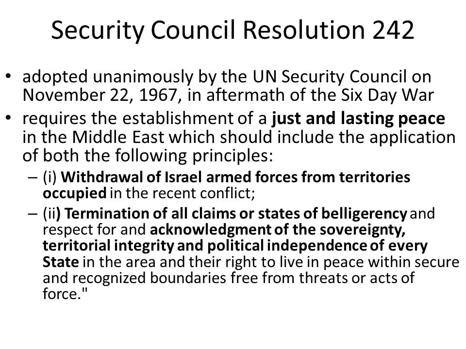 Security Council Resolution 242