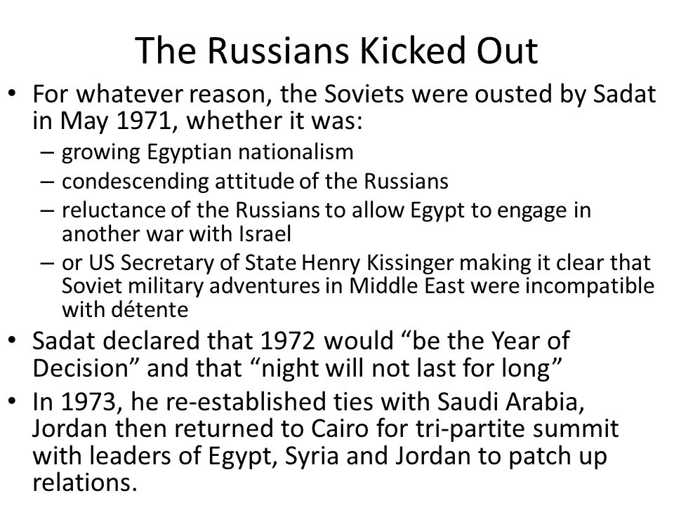 The Russians Kicked Out