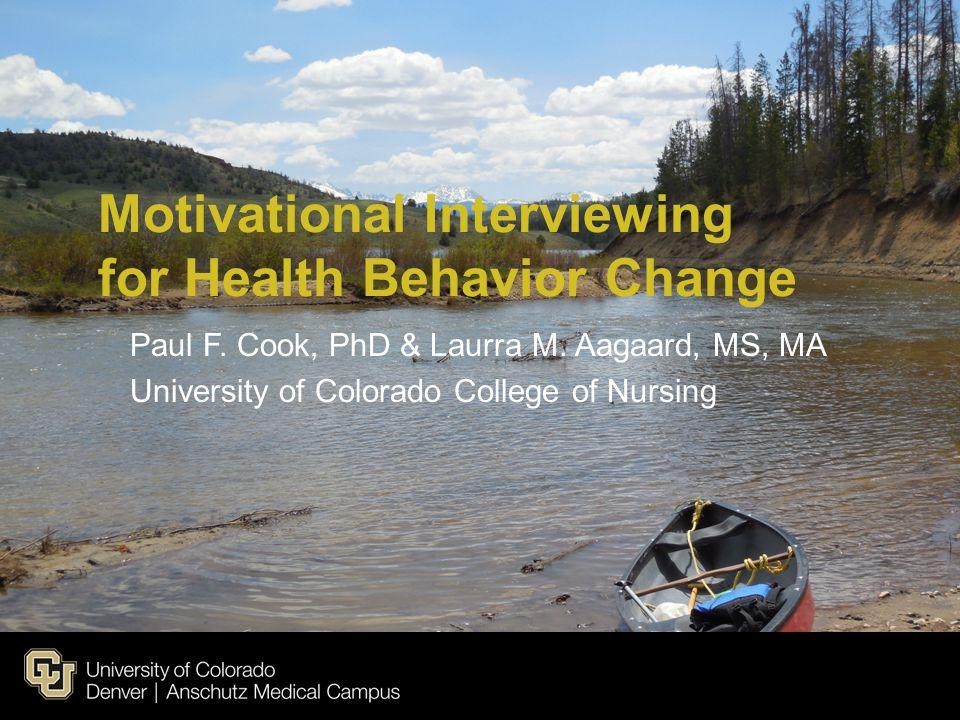 Motivational Interviewing for Health Behavior Change