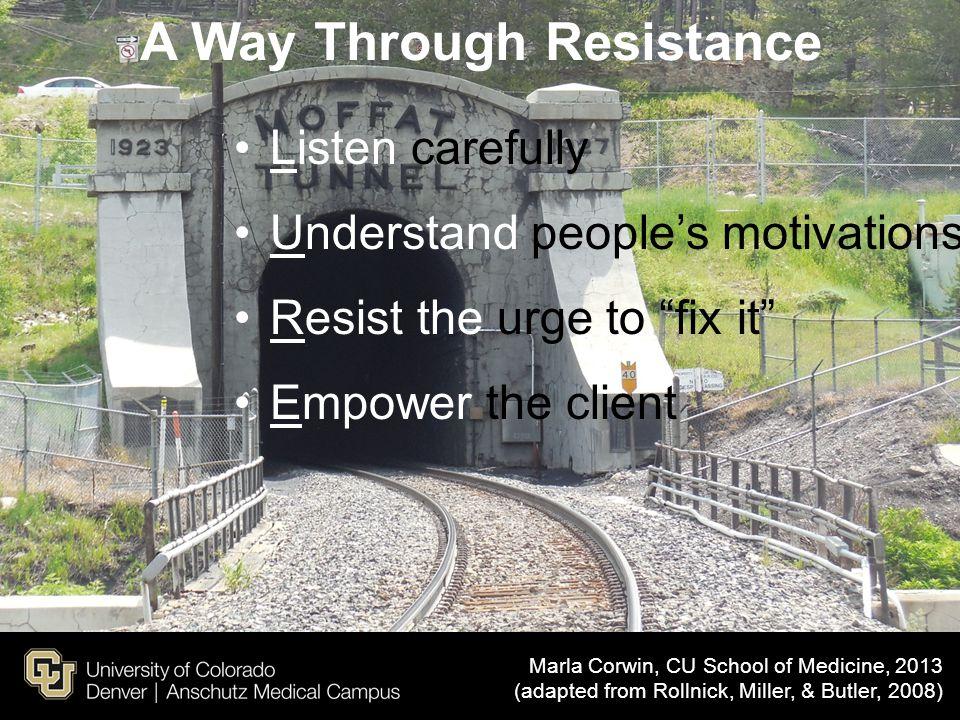 A Way Through Resistance