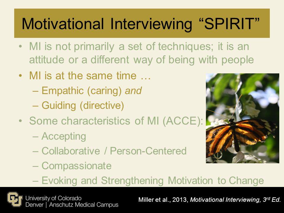 Motivational Interviewing SPIRIT