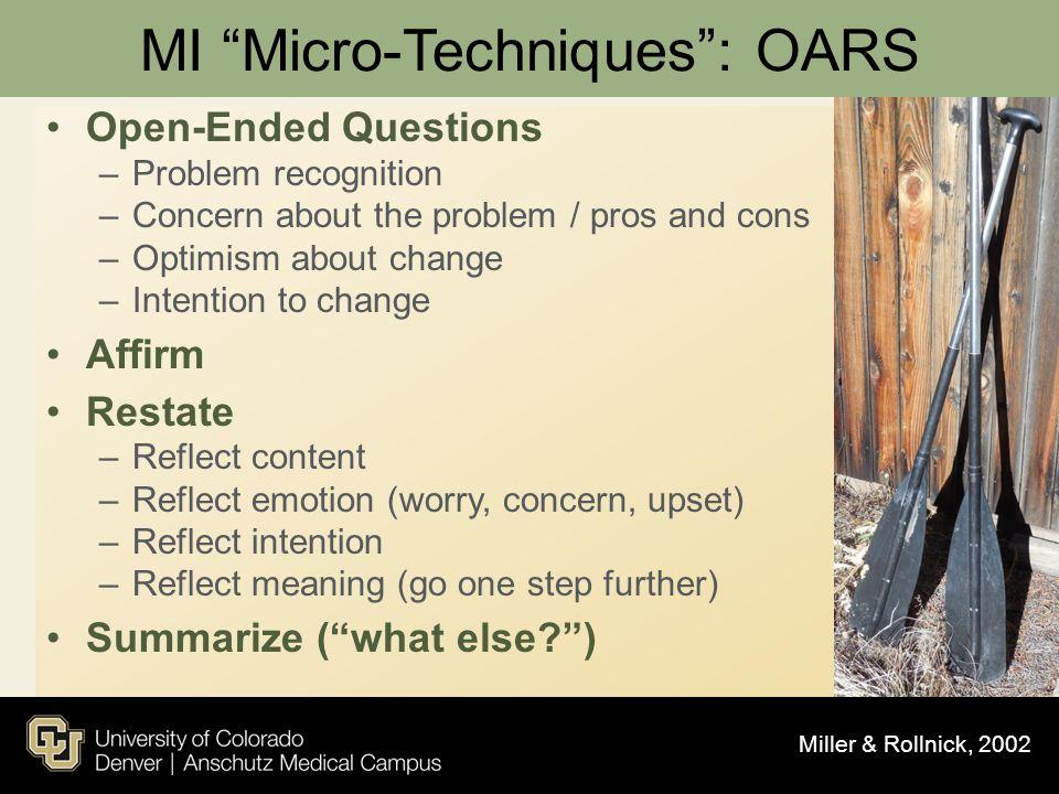 MI Micro-Techniques : OARS