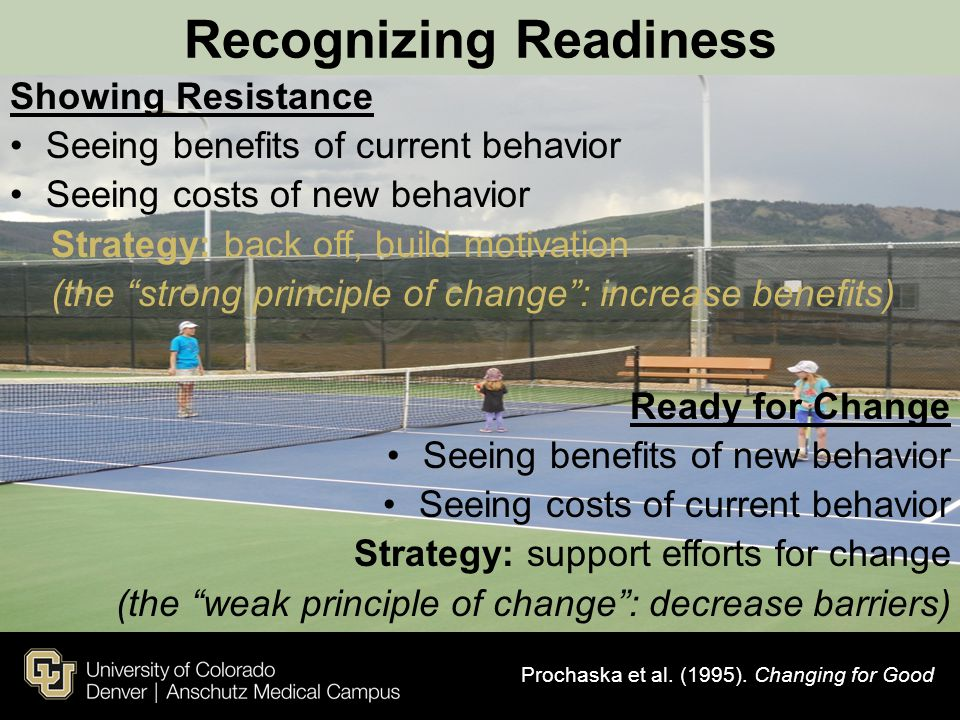 Recognizing Readiness