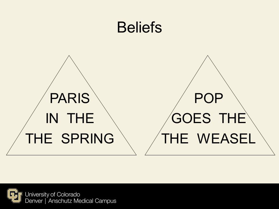 Beliefs PARIS IN THE THE SPRING POP GOES THE THE WEASEL