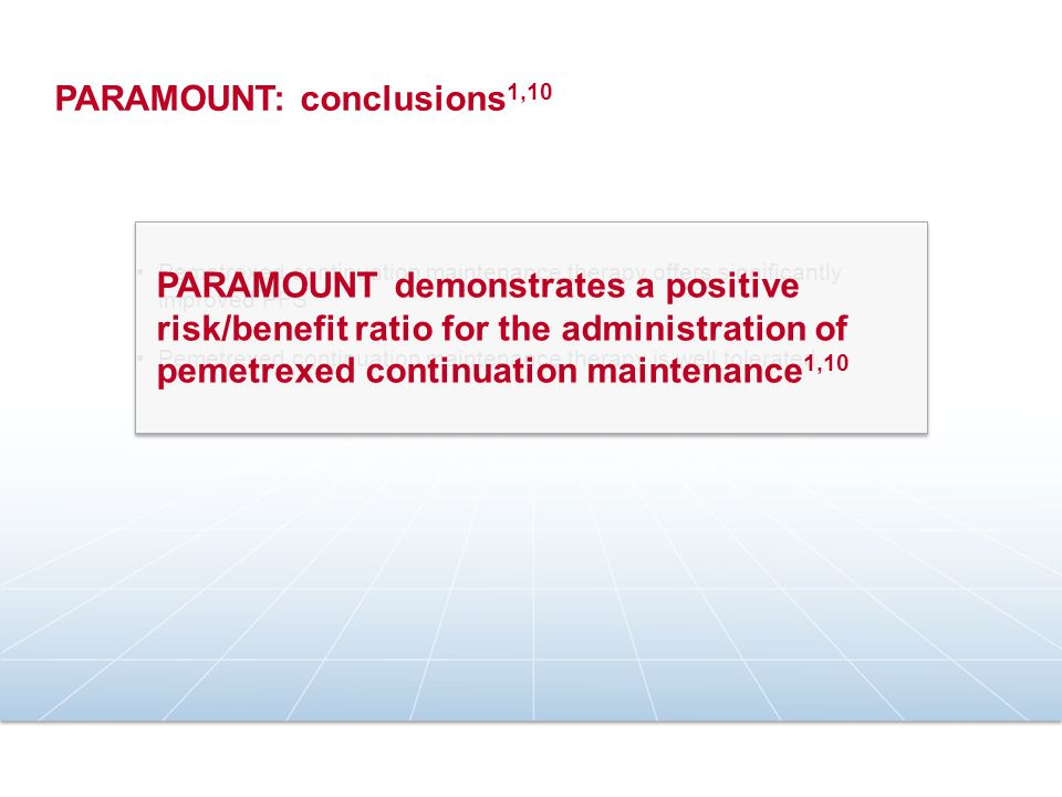 PARAMOUNT: conclusions1,10