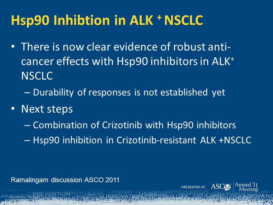 Hsp90 Inhibtion in ALK + NSCLC
