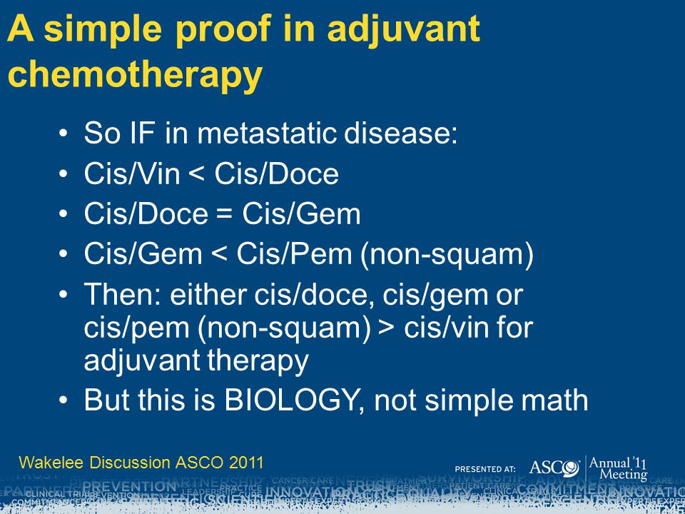 A simple proof in adjuvant chemotherapy