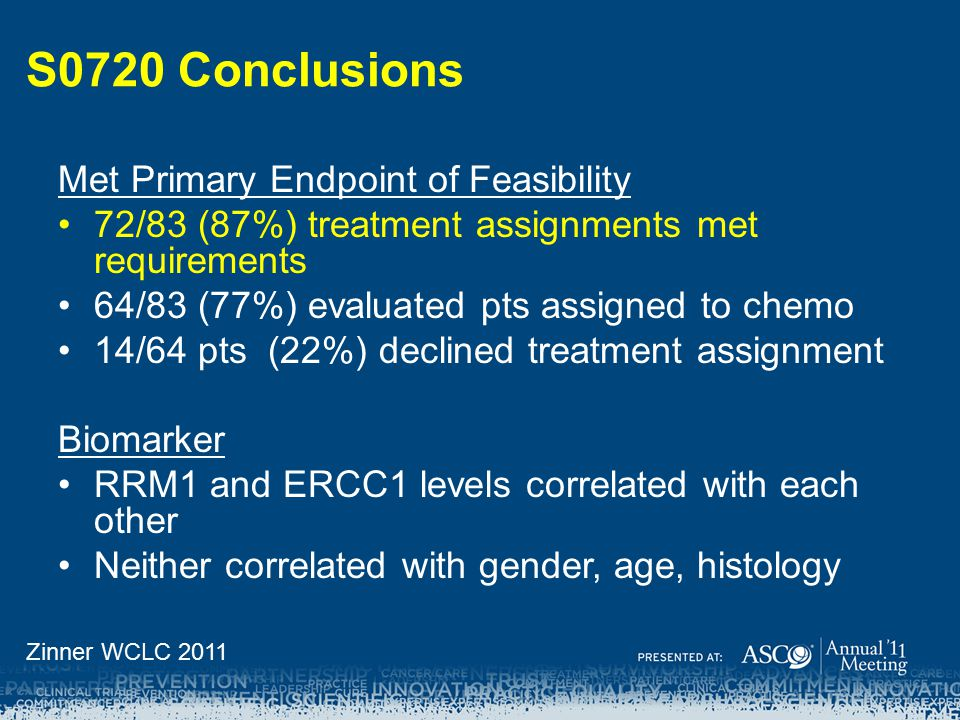 S0720 Conclusions Met Primary Endpoint of Feasibility