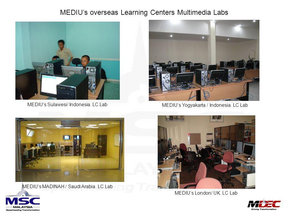 MEDIU's overseas Learning Centers Multimedia Labs