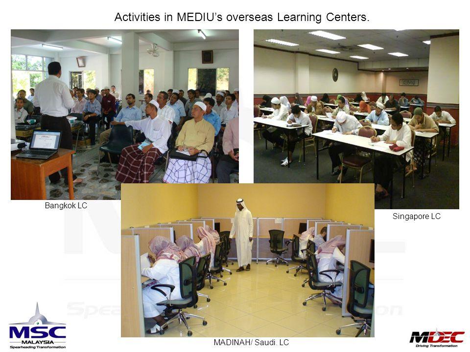 Activities in MEDIU's overseas Learning Centers.