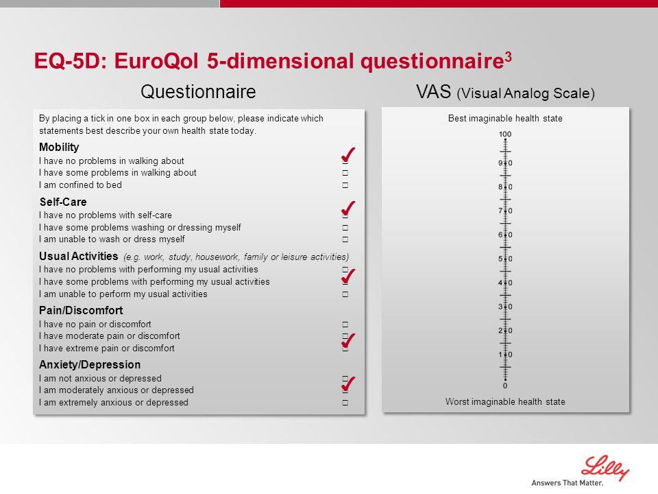 EQ-5D: EuroQol 5-dimensional questionnaire3