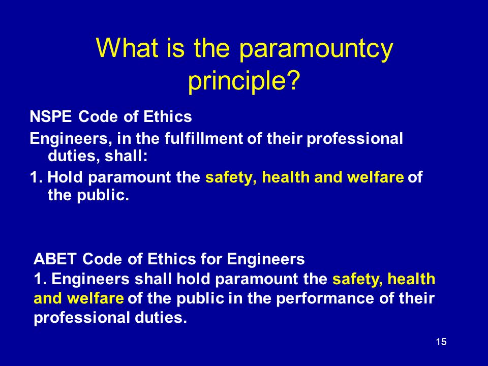 What is the paramountcy principle