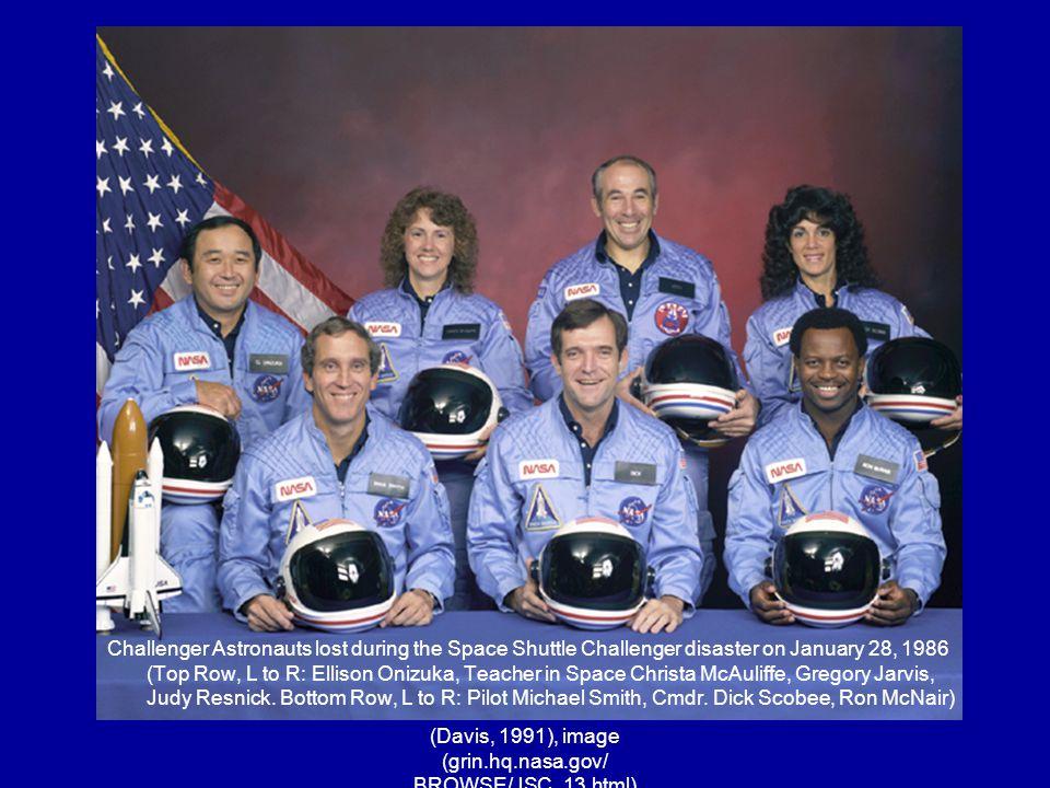 (Davis, 1991), image (grin.hq.nasa.gov/ BROWSE/JSC_13.html)