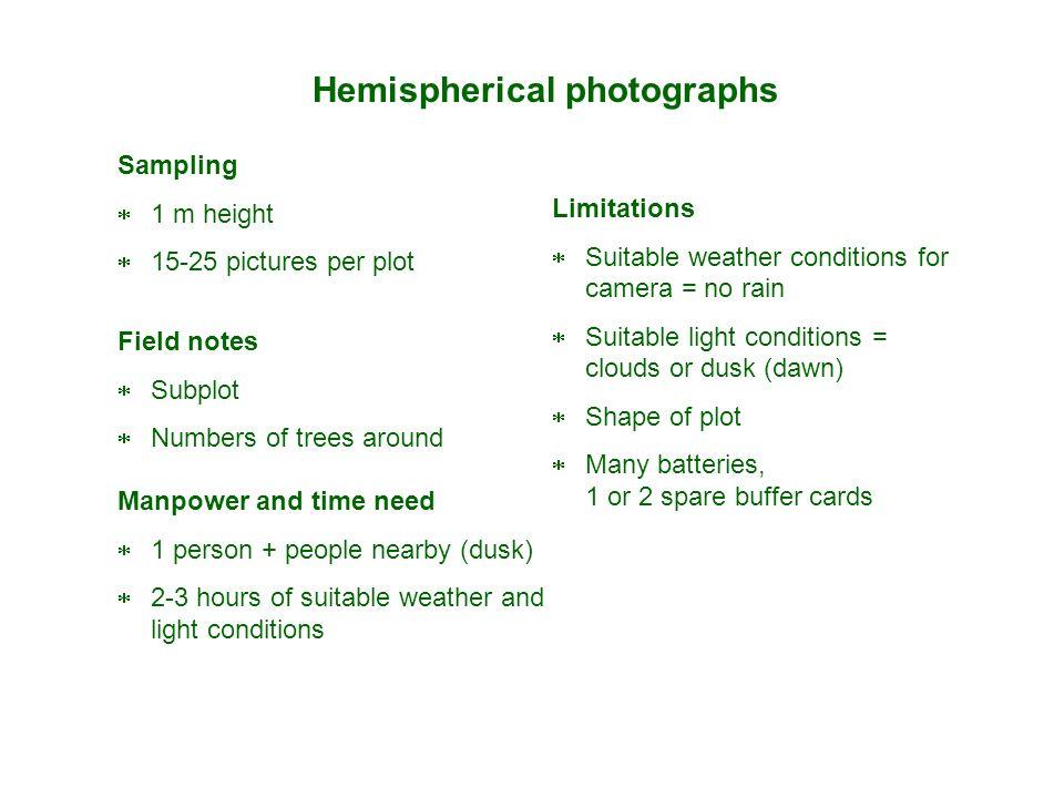 Hemispherical photographs