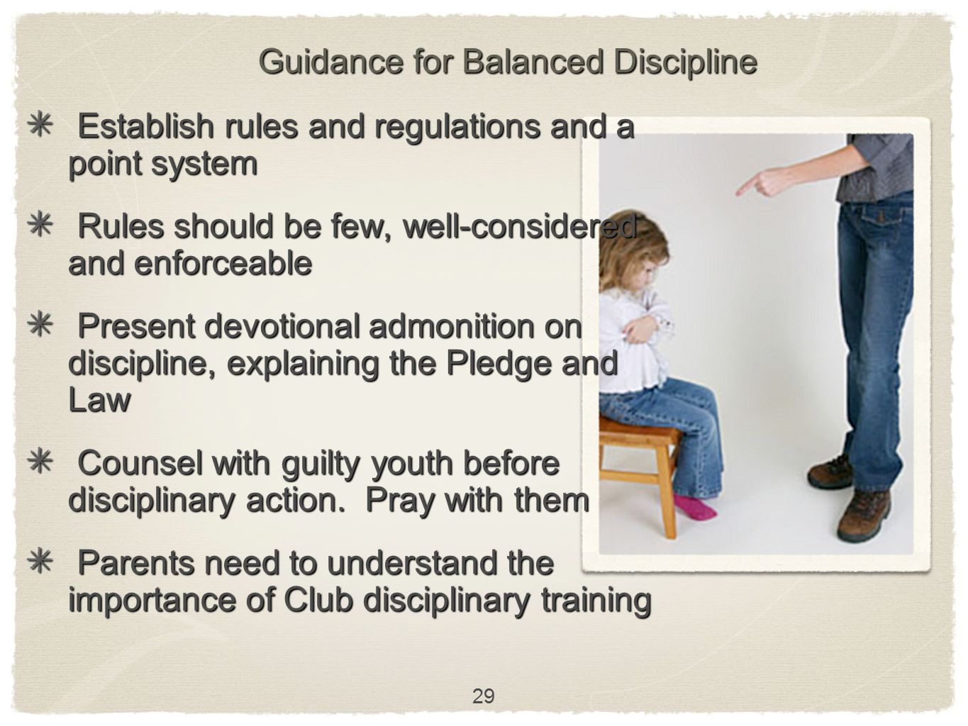 Guidance for Balanced Discipline