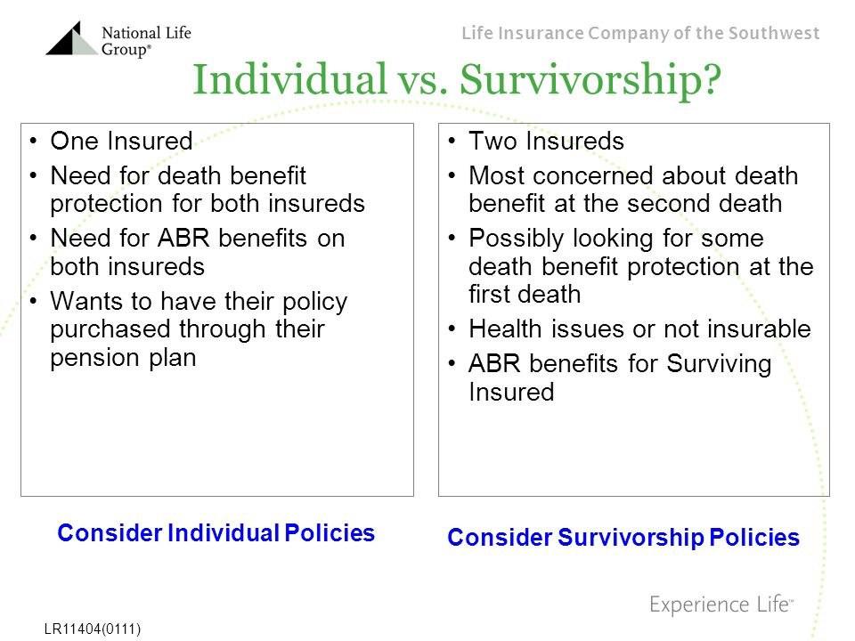 Individual vs. Survivorship