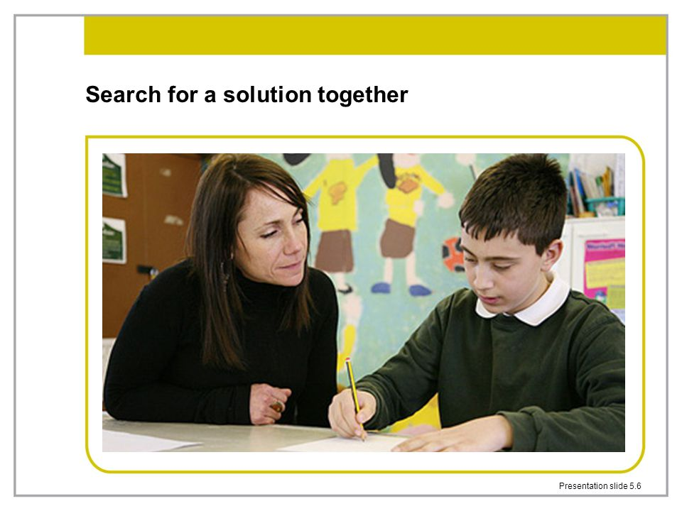 Search for a solution together
