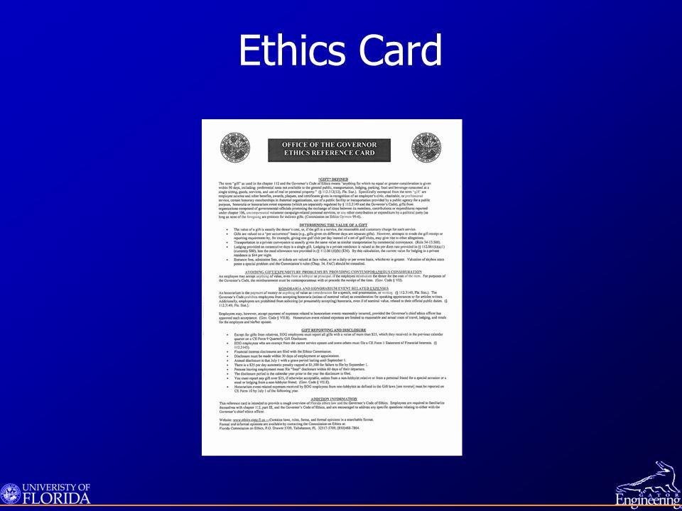 Ethics Card