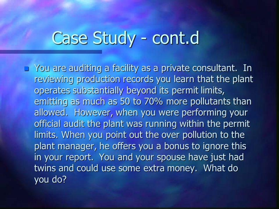 Case Study - cont.d