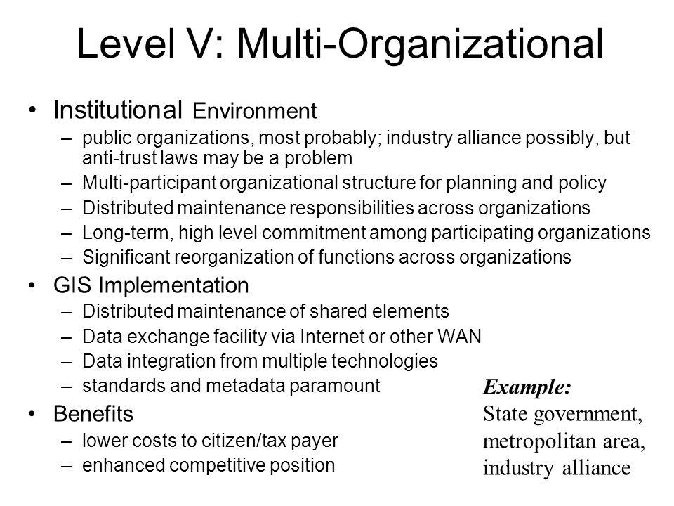 Level V: Multi-Organizational