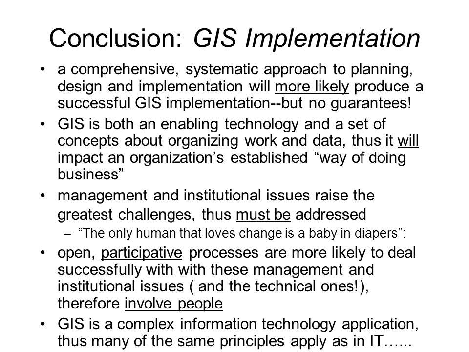 Conclusion: GIS Implementation