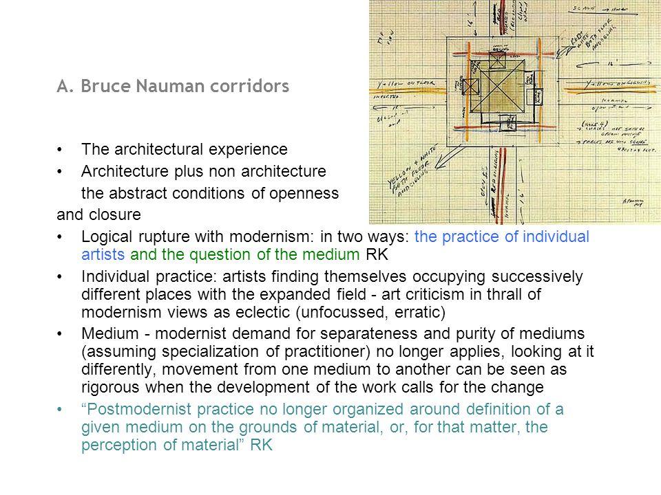 A. Bruce Nauman corridors