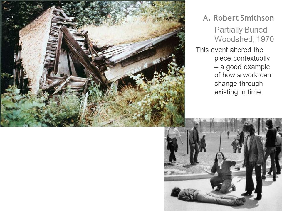 Partially Buried Woodshed, 1970