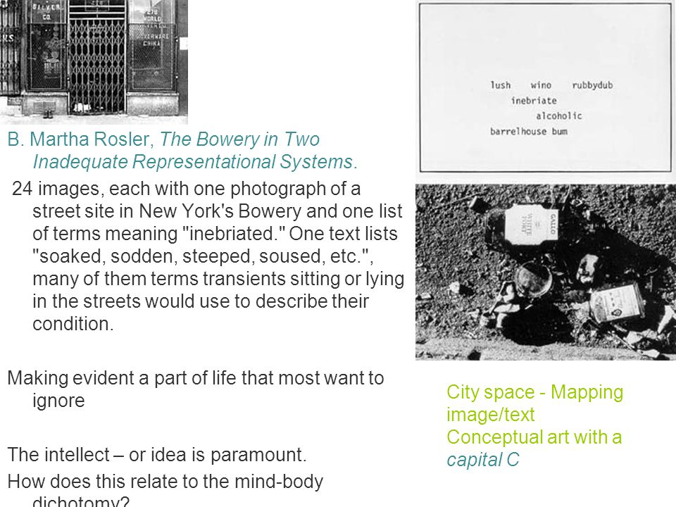 City space - Mapping image/text Conceptual art with a capital C