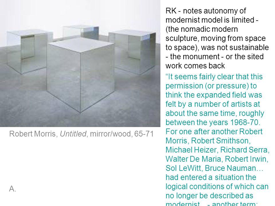 Robert Morris, Untitled, mirror/wood, 65-71