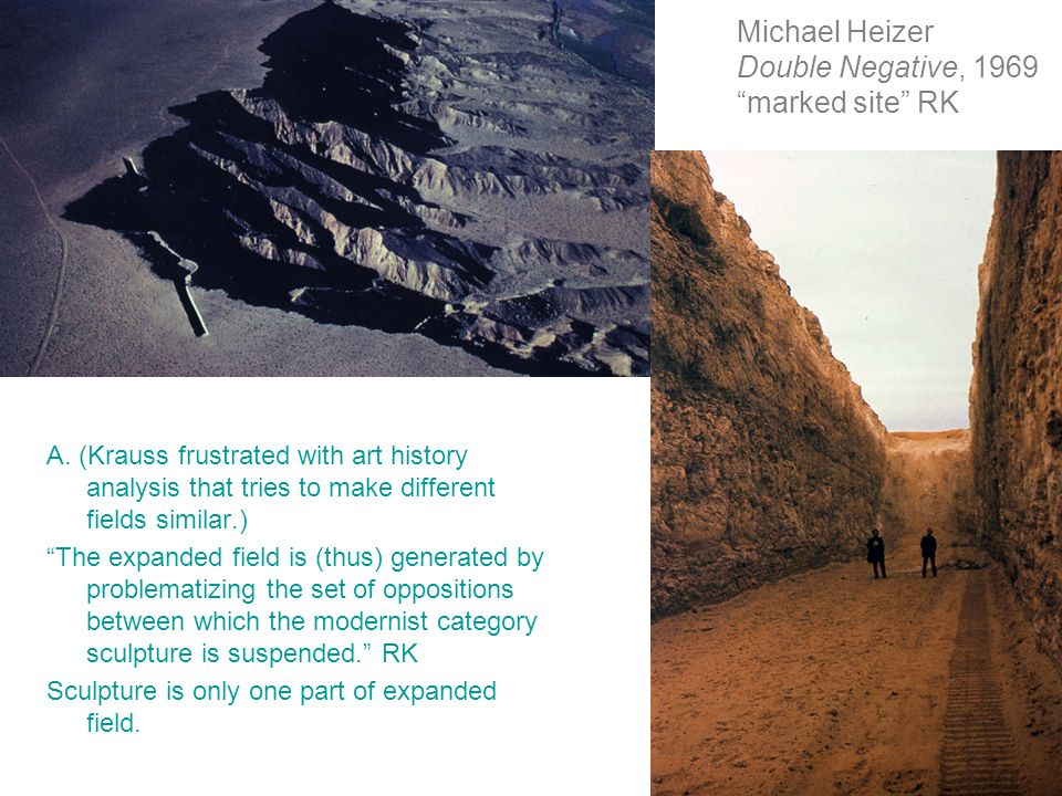 Michael Heizer Double Negative, 1969 marked site RK