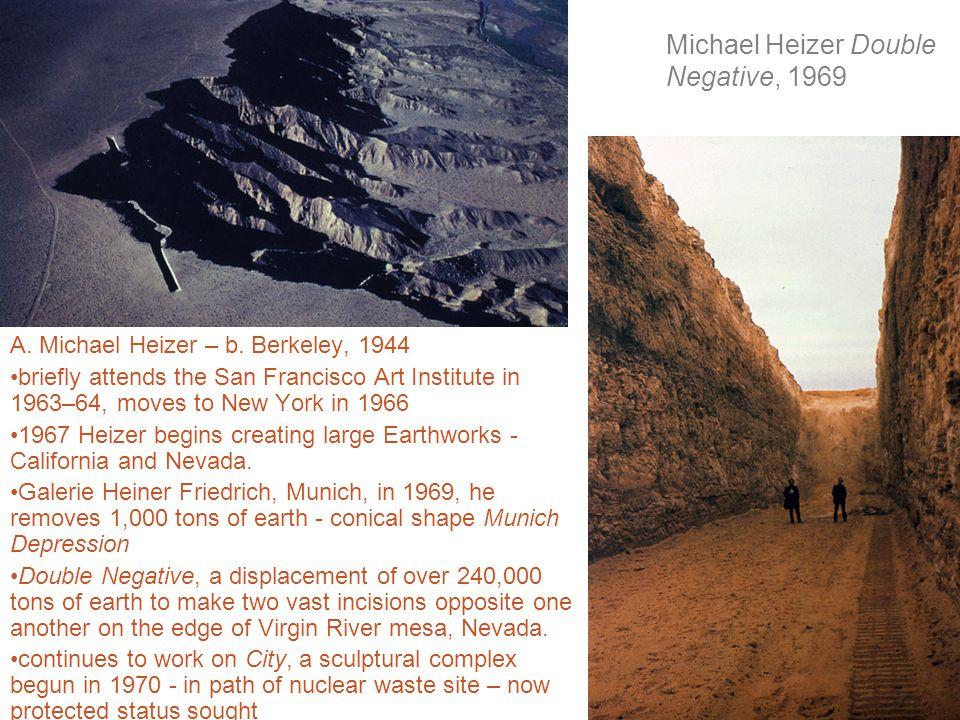 Michael Heizer Double Negative, 1969